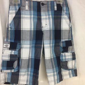 Lee loose plaid cargo shorts adjustable waist